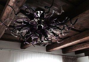 الحديث كريستال قلادة ضوء الزجاج الثريا معيشة ديكور الحديثة آرت ديكو زهرة شكل مصابيح فنية مع لمبات led