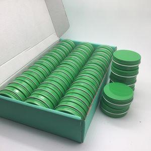 1oz / 30ml 30g verde Amostra de alumínio Tin frascos de cosméticos metal latas vazias Bulk Container Rodada Screw Cap Pot Lid nova embalagem