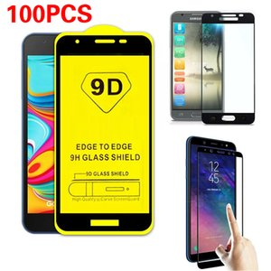 100PCS Full Coverage Tempered Glass for Samsung Galaxy J3 J4 J5 J6 J7 Pro J8 Plus J2 Pure 2018 2017 Screen Protector Film