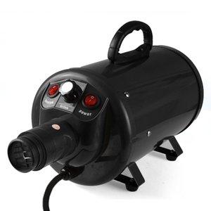 Shetland S19 Kademesiz Ayarlanabilir Hız Köpek Bakım Kurutucu Ucuz Pet Saç Kurutma Blower 2200W AB Tak Siyah / Mavi Renk