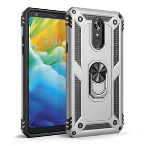 Para LG K51 Caso Stylo6 Stylo 5 aristo2 / 3 K40 K50 K10 K30 K50S protección militar Anti-gota magnética del anillo pata de cabra la caja del teléfono