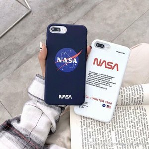 Agência espacial do reino unido nasa designer de luxo à prova de choque macio silicone phone case capa para iphone x 6 6 s 7 8 plus iphone xs max xr