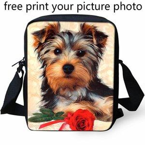 Borsa a tracolla personalizzata per foto 3D Borsa per asilo personalizzata Piccola borsa a tracolla per cuccioli Mini Schnauzer Kennel Cuore Gattino SH190725