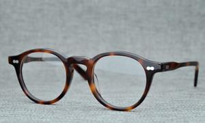 Prescrição Jonny profunda Moscot BeLight Optical Homens Itália Acetato retro pequeno Óculos Optical Spectacle Quadro Eyewear MILTZEN