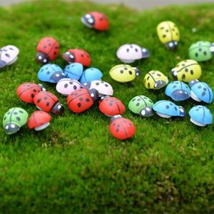 Mini-dame artificielle Bugs Insectes Beatle Fairy Jardin Miniatures Gnome Moss Decor Terrarium Décor Résine Crafts Bonsaï Décoration de la maison pour Diy Zakka