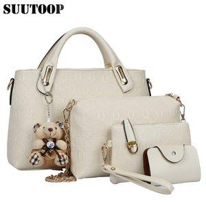 Berühmte Designer SUUTOOP Luxusmarken Frauentasche gesetzt gute Qualität mittlere Frauen neue Frauen Umhängetasche 4 Stück Set SH190923 Set Handtasche