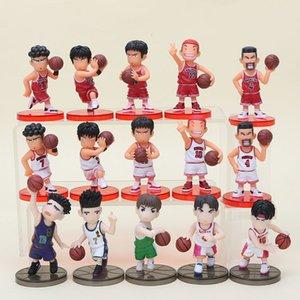 15 pçs / lote Slam Dunk Figuras Japão Anime Pvc Action Figure Brinquedos Modelo Estatueta Coleção Y19051804
