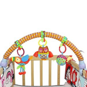 Baby Stroller Bed Crib Hanging Toys Tots Cots Rattles Seat Plush Stroller Mobile Gifts Animals Bird Rattles