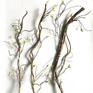 90cm Real Touch Fake Tree Branches Rattan Artificial Flower Vine para Home Hotel Garden DIY Decoración Guirnalda Scrapbooking Floral