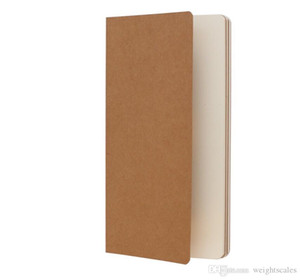 Kraft Brown Unlined Travel journals notebook Soft Cover Notebooks H5 Size 210 mm x 112 mm 60 Pages 30 Sheets stationery office supplies