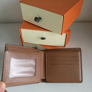 Molteplici nuovi raccoglitori Borse Mens Wallet Breve supporti di carta di Parigi a quadri stile maschile Portafogli Piccola borsa Bifold Tela con la scatola