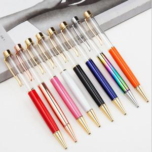 جديد الإبداعية فارغة بلينغ بلينغ كريستال الماس معدن قلم أقلام مدرسة القرطاسية اللوازم المكتبية شحن مجاني