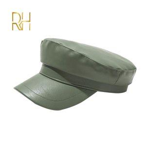 كبير الحجم أنثى flat newsboy cap Retro Literary snapback cape Leisure big head circference Octagonal beret RH