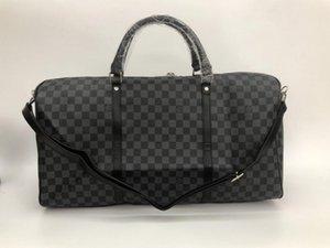 أكياس القماش القماشي الكلاسيكية ذات الجودة العالية 54 سم حقائب سفر الرجال حقائب سفر كبيرة القدرة holdall يحمل على الأمتعة