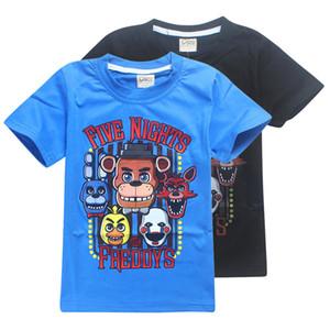 FNAF 키즈 티 셔츠 5 일 동안에서 프레디 2 색 4~12톤 소년 코튼 T 셔츠 아이 디자이너 옷 SS214