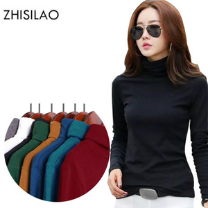 ZHISILAO Femme Pull à col roulé Pull femme d'hiver Casual Pull solide Sueter Mujer Pull Femme Haut Haut élastique