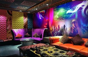 Customize wallpaper of any size colorful character night club Dj cool ktv bar background decoration family bedroom room pattern