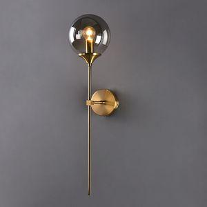 Modern Edison Glass Ball LED Wall Lamp Bedroom Bathroom Corridor Bedside Wall Lights Nordic Golden Indoor Decor Light Fixtures