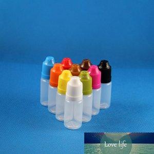 100 Sets 8ml (1 4 oz) Plastic Dropper Bottles Proof Caps & Tips PE Vapor Cig Liquid