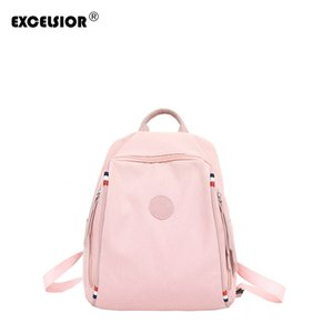 EXCELSIOR Hot Sale Women's Backpack High Quality Canvas Girls School Bags New Arrival Colorful Solid Bag Great Temperament G2161