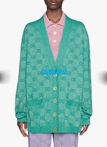 haut veste cardigan en maille oversize femmes fin filles all over lettre de verrouillage extensibles sommets de design de mode de tricot à manches longues