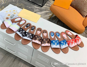 pantofole da donna ESCALE bloccarlo FLAT mula del caldo nuove donne di formato 1A7TO3 sandali moda casual di alta qualità 35-42 con box