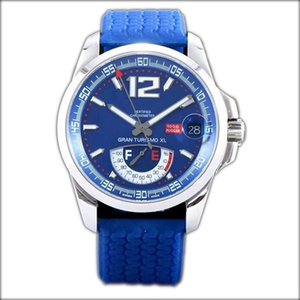Meilleure édition Miglia GT XL 168457-3001 - Boîtier en acier - Réserve de marche réelle - Cadran bleu ETA A2824-2 - Montre homme - Bracelet caoutchouc bleu - Nouveau FK.d04