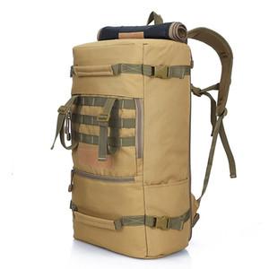 Multifunción 50L Tactical Mochila Ttravel bolsa de deportes al aire libre Camping Senderismo Mochilas Trekking Mochila Hombres Ejército bolsa