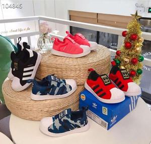 Moda 2019 nova Marca ADDS Shell Cabeça menino meninas Sapatilhas Superstar crianças Crianças Sapatos novo stan Athletic sapatos Ao Ar Livre