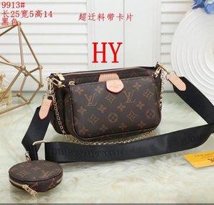 # 9913 New MAHJIONG BAG trois-en-un sac zéro porte-monnaie un épaulement incliné sac porte-monnaie femelle trois pièces multiples pochette accessoires 25X14X5CM