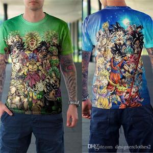 Digital Print à manches courtes femmes T-shirts d'été lâche O Neck Couples Designer Tops Dragon Ball 3D