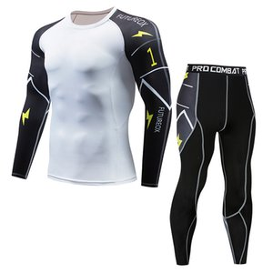 Brand Fashion Luxury Designer Mens New Spot Sports Tights Mens Long-Sleeved Sports Mens Fitness T-shirt Quick-Drying Super Elastic Pro Suit