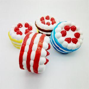 سوبر بطيئة صاعدة Squishy لعبة Kawai قشدة ملونة ضد الإجهاد كعكة الفراولة الاسفنجية الجامبو Squishy