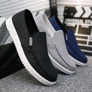 Men Canvas Loafer Low Cut Casual Shoes 50% Male Fashion Derby Old Peking Shoes Summer Denim Footwear Slip-on Winklepickers