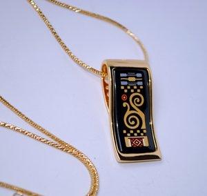 18K gold-plated enamel necklaces for women Klimt Series Necklaces Top quality
