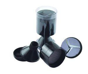 Embudo de plástico 3 partes de polvo de especias mano molino de mano Molino Tabaco Caja de almacenamiento de contenedores de cristal Vial Snorter Herramientas fumadores