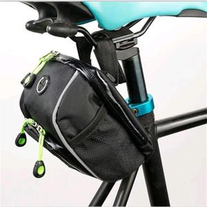 Borsa per bicicletta Borsa per sella Borsa anteriore Borsa per manubrio impermeabile Multi funzione Accessori per esterno Antiusura Portatile Conveniente 12adf1
