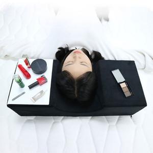 La ayuda de la herramienta ergonómica almohada especial injerto de pestañas ayuda del soporte del cuello profesional del salón Usar extensión curva simple franela