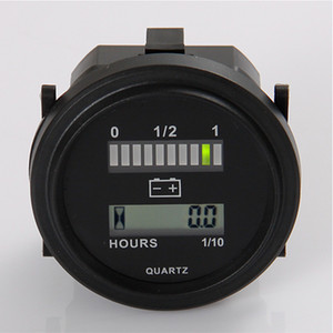 Medidor de hora digital indicador de batería QUARTZ LED de Freeshipping para la unidad alimentada por CC 12V24V, 24V, 36V, 48V, 72V