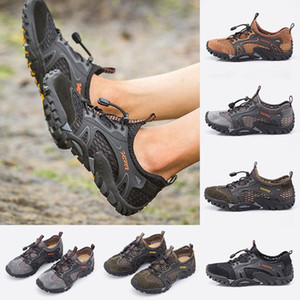 Fashion mens casual shoes breathable black navy brown wild cheap flat shoes for outdoor jogging walking