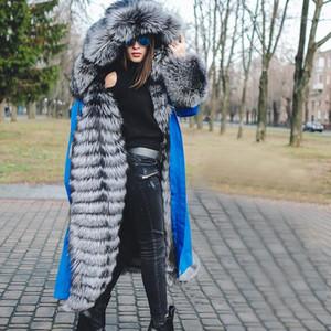 Конструктор женщин плащи Съемный искусственный мех Щитовые мода Женская зимняя куртка Плюс Размер Повседневная одежда