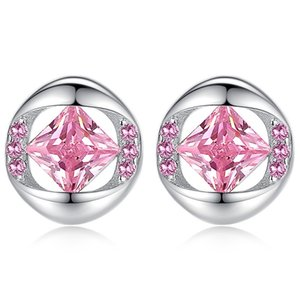 Подарок Xmas CZ Кристаллы Stud Earings женщин ювелирных изделий Классических мод Цирконий женская дама невеста партия любовник От Swarovski WHW99