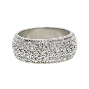 Us tamanho 7 8 9 10 prata claro cubic zirconia faísca bling iced out homens menino cubano elo da cadeia anel de noivado banda