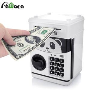 بنك لطيف المال التلقائي توفير صناديق خزان النقدية الالكترونية الخنزير بنك المال خزنة الباندا القط الاطفال الطفل اللعب حصالة