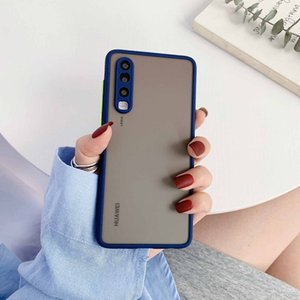 Muti Color Huawei P30 Cell Phone Cases Transparent Cell Phone Cases Frosted Cell Phone Cases Hand Feel Fitted Case PU For Huawei P30