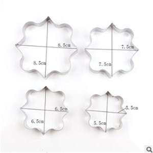 TTLIFE 4PCS Blessing Frame Stainless Steel Biscuit Cookie Cutter Wedding Cake Mould Sugarcraft Baking Pastry Decorating DIY Tool