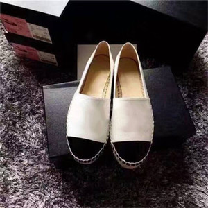 Designer Luxury 2019 New Women Espadrilles Top Quality Brand Real Lambskin Women Flat Shoes Fashion Comfortable Casual Loafers cal13