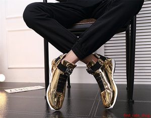 2020 Hot Sale Korean trendy fashion designer s shoes silver gold black shiny bright Mr. stylish red carpet preferred quality shoes 40-45