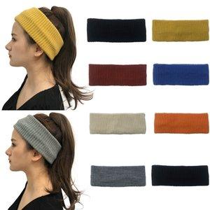 CC Hairband Knitted Crochet Headband Winter Ear Warmer Elastic ponytail hat Wide Hair Accessories