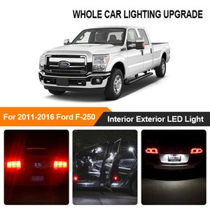 Ámbar blanco Bulbos de coches Exterior Interior Luz LED para 2011-2016 Aparcamiento F250 F350 F450 F550 inversa freno Intermitente